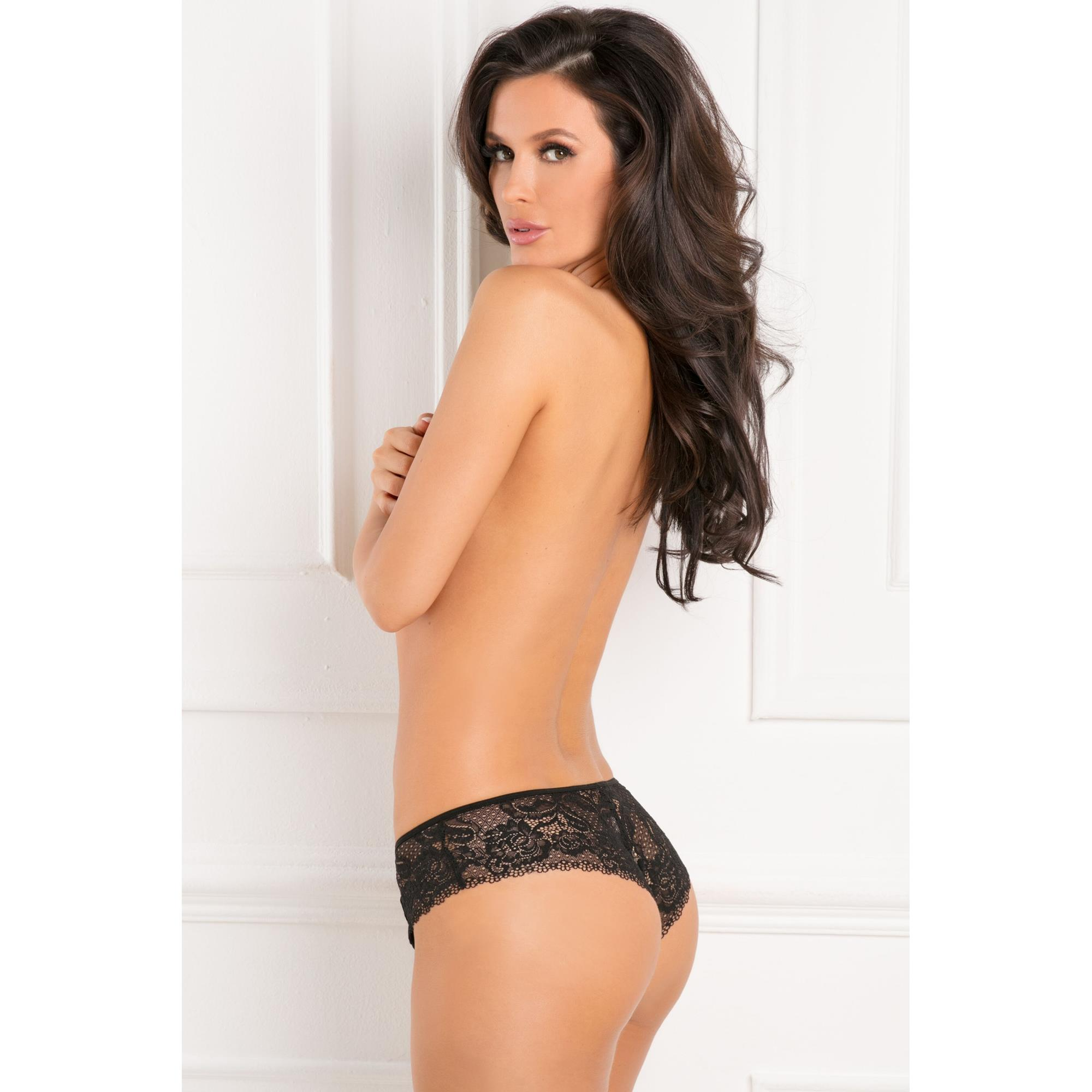Image of   Hot Hook Ups Crotchless Panty M/L