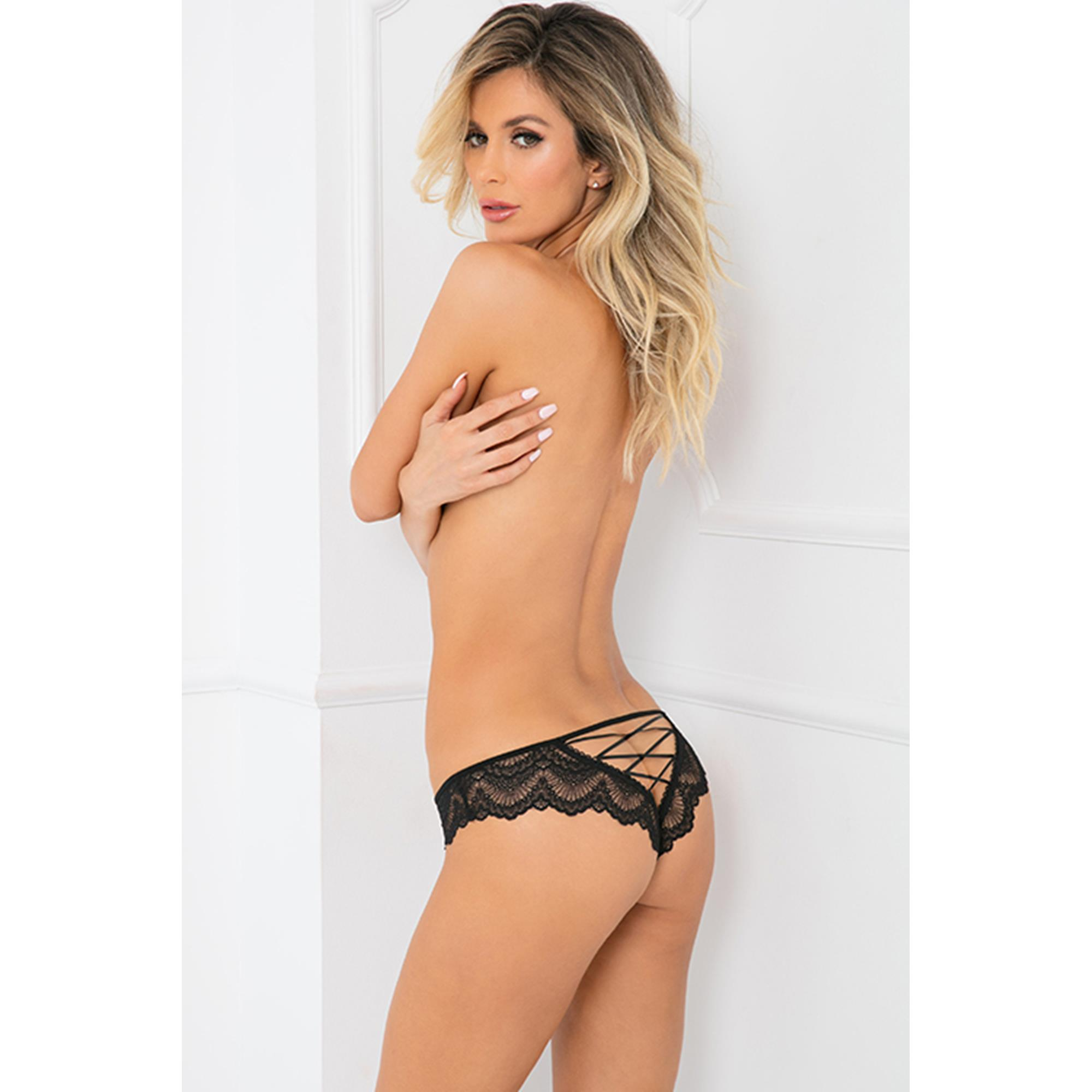 Image of   Come Undone Crotchless Panty M/L