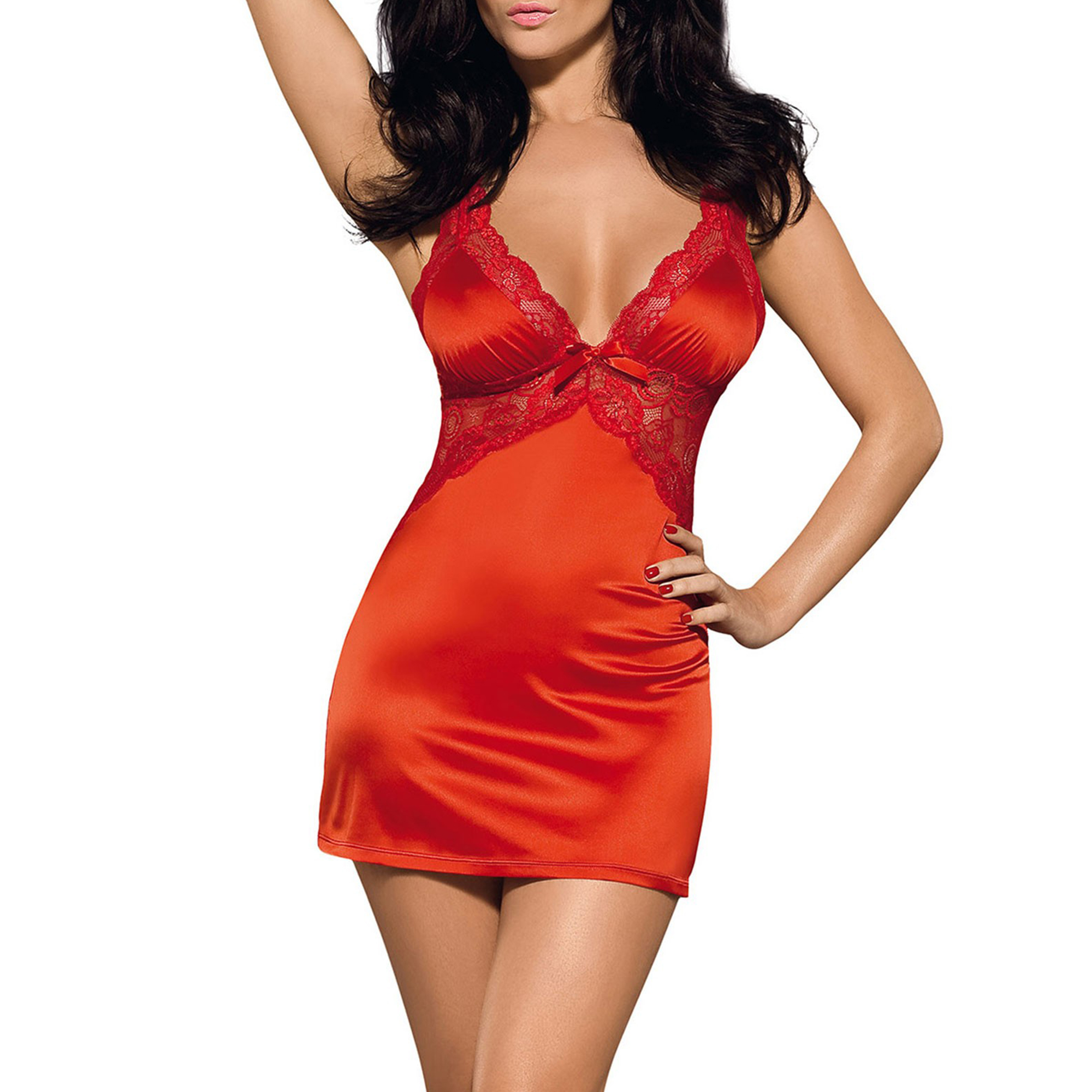 Image of   Obsessive Secred Chemise & Thong L/XL