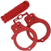 BondX Cuffs & Bondagerep - Rød